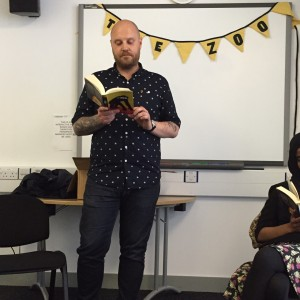 Jamie Mollart reading from his novel 'The Zoo'