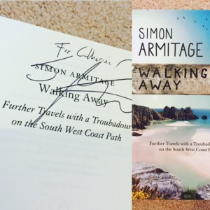 simon armitage walking away signed copy, cheltenham literature